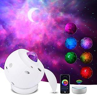 Klighten LED Projecteur Ciel Etoile, Projecteur Galaxie Smart Compatible avec Alexa, Lampe Projecteur Nébuleuse Lune pour ...