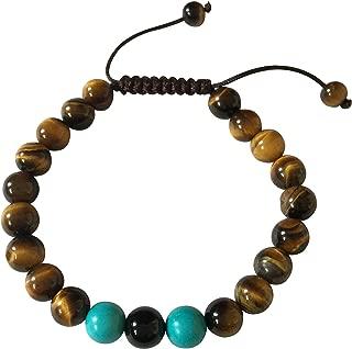 Tibetan Mala Tiger Eye Wrist Mala/Bracelet for Meditation