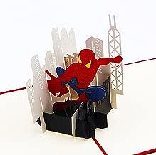 Jerry & Maggie - Pop Up Greeting Card - Spiderman Card 3D Paper Greeting Thank You Card Handmade Anime Superhero Halloween Birthday Thanksgiving For Kids Men Women