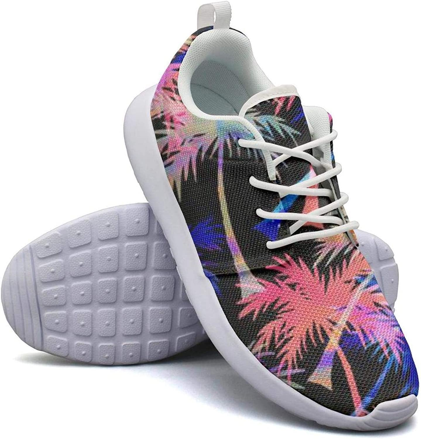 Comfort Woman Lightweight Mesh shoes coloring Palm Trees Sneakers Walking Shock Absorbing