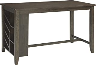 Signature Design By Ashley - Rokane Rectangular Dining Room Counter Table w/Storage - Casual Style - Brown
