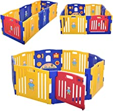 JAXPETY Baby Playpen Kids 8 Panel Safety Center Yard Home Indoor Outdoor New Pen 8