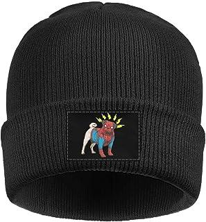e51a803a01b Jhigbdj Beanie for Women Men Unisex Pug Dog Cosplay Superhero Warm Winter  Knit Beanies Hats