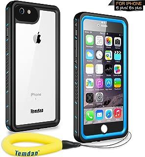 Temdan iPhone 6s Plus / 6 Plus Waterproof Case with Floating Strap Shockproof Waterproof Case for iPhone 6s Plus / 6 Plus(5.5inch) (Blue)