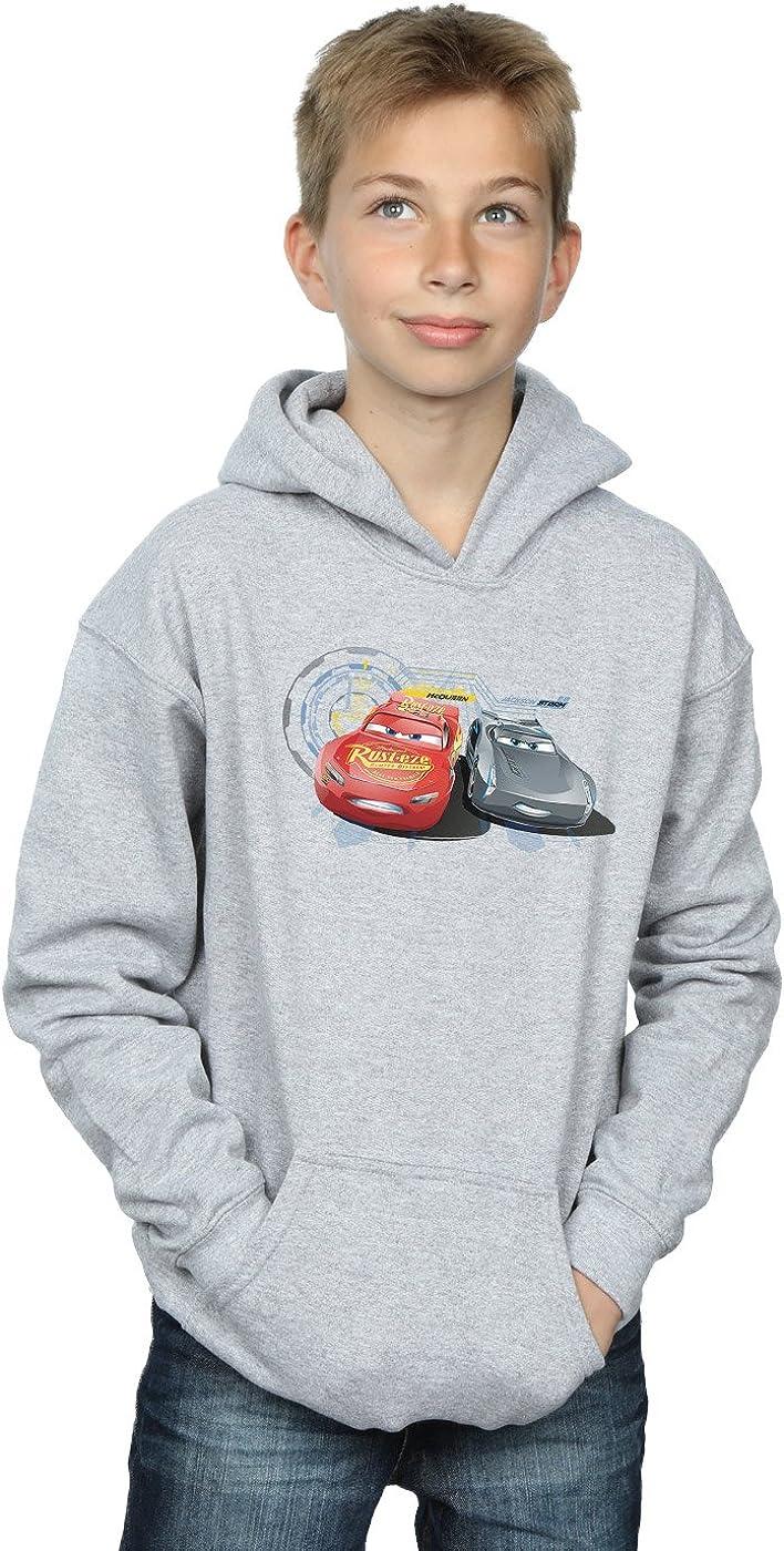 Disney Boys Cars Lightning Vs Storm Hoodie 9-11 Years Sport Grey