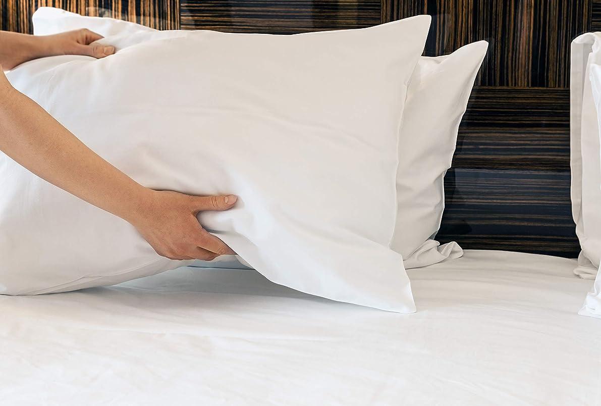 Atlas 6-Piece Economy Polycotton Bulk Standard Size A Grade Pillowcases, 130TC, 20