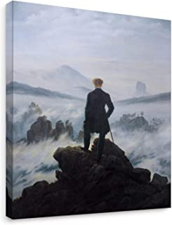 Niwo Art - Wanderer Above The Sea of Fog, World's Most Famous Paintings Series, Canvas Wall Art Home Decor, Gallery Wrapped, Stretched, Framed Ready to Hang (16