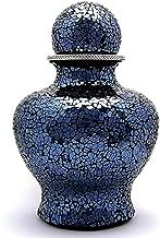 Cremation Urn for Adult, Sphere Top, Dark Blue