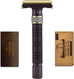 VIKINGS BLADE The Emperor Adjustable Safety Razor, AUGUSTUS Edition (Vintage Bronze & Cognac)