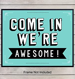 Open Sign, 8x10 Poster, Print, Home Decor - Funny Wall Art - Unique Decorations, Come In Sign for Store, Business, Office, Bar, Cafe, Studio, Gym - Gift for Entrepreneur - Unframed Photo