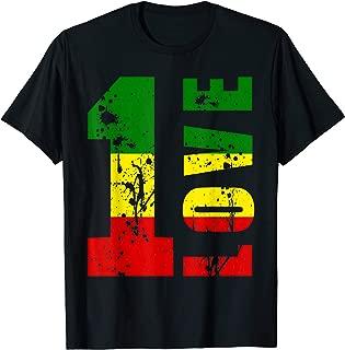 One Love Jamaica T Shirt Rasta Reggae Music Caribbean Pride