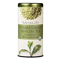 The Republic of Tea Double Green Matcha, Gourmet Blend of Organic Green Tea And Matcha Powder, 50 Co