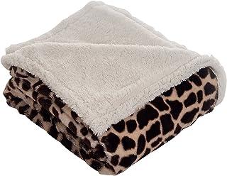 Lavish Home Throw Blanket - Fleece/Sherpa Giraffe