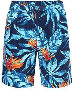 Rokka&Rolla Men's Quick Dry Drawstring Waist Beach Swim Trunks Board Shorts with Mesh Lining