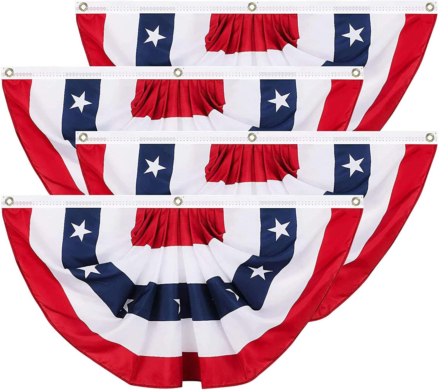 Brave Max 64% OFF Tour 4 Pcs USA Pleated Independence Day Max 40% OFF Flag Fan Decoratio