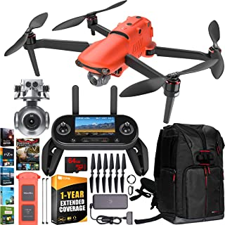 Autel Robotics EVO 2 Drone Folding Quadcopter 8K HDR Video and 48MP Camera EVO II Extended Warranty Expedition Bundle with OLED Remote Control + Travel Backpack + Software Kit