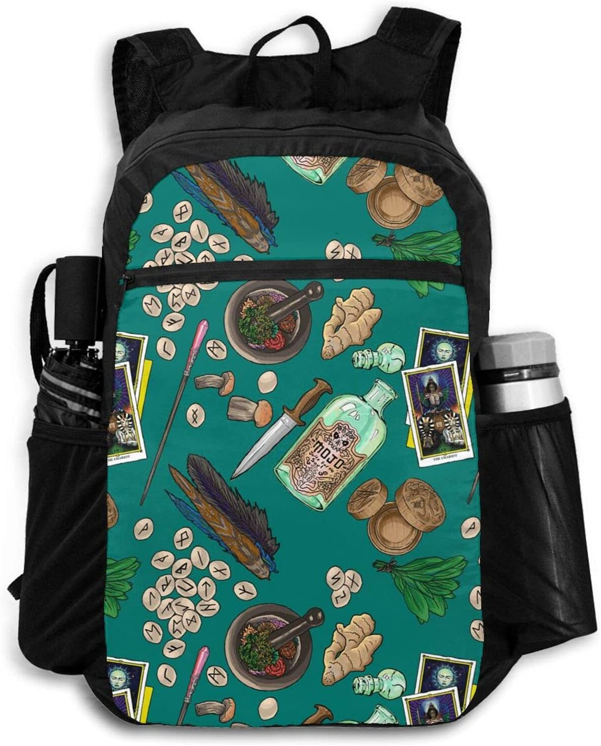 Zolama Witch Table in Teal Backpacks Packable Max 51% OFF for Omaha Mall Men Women Cute