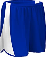 "product image for TR-687W-CB Women's 4"" Light Weight Sheer Fabric w/Built in Brief Track Short with Side Panels and Inner Brief (X-Large, Royal/White)"
