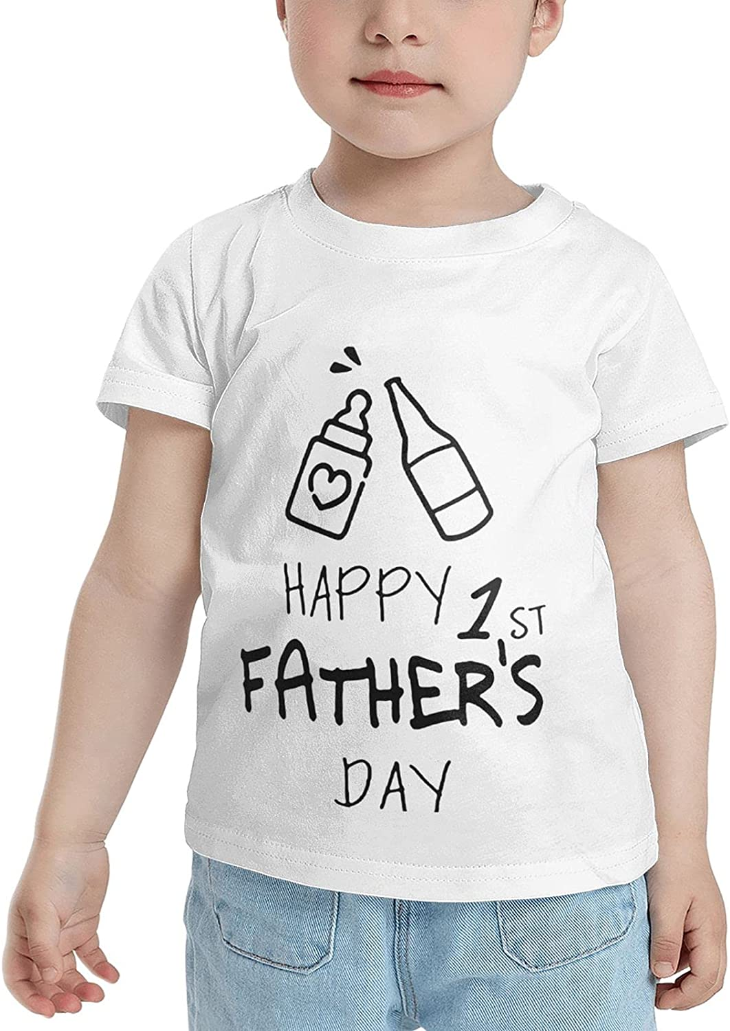 Happy 1 St Fathers Day T-Shirts Novelty for Girls Tees with Cool Designs