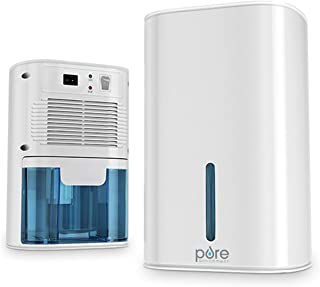 Pure Enrichment Deluxe Mini Dehumidifier - Compact Water Tank Eliminates 300ml/day in Excess Moisture from Closets, Bathrooms, Boats, Kitchens and Other Small Rooms and Living Spaces