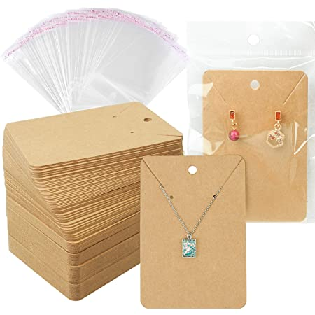 Floranea 50 Pcs Marble Design Earring Necklace Display Cards Rectangle Card Tags Holder for Ear Studs Handmade Jewelry Making Storage Packing Supplies Christmas Thanksgiving Gift Leaf