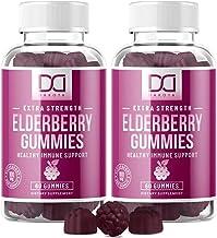 Sambucus Elderberry Gummies with Zinc Vitamin C for Adults Kids for Black Elderberry Immune Support System Vitamins, Elder...