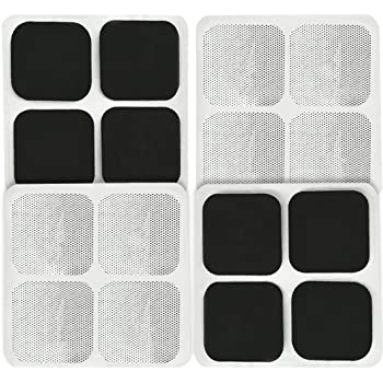"16 Pads of Easy@home 2""x 2"" TENS Unit Reuseable Self Stick Carbon Electrode Pad - Non Irritating Design"