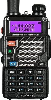 BaoFeng UV-5R Plus Dual-Band 136-174/400-480 MHz FM Ham Two-Way Radio (Black)