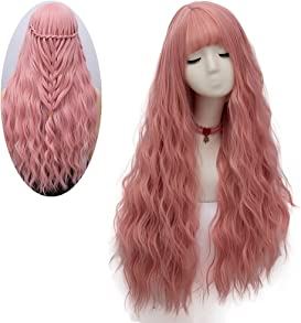 Explore pink wigs for kids