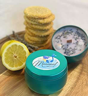 Iced Lemon Cookie Soy Candle  Handmade  8 ounce 16 ounce  Spring Candle Scents
