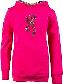 Browning Youth Buckmark Camo Sweatshirt, Fuchsia, XL