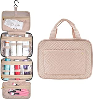 Toiletry Bag Travel Makeup Bag for Women Large Cosmetic Organizer for Accessories, Shampoo, Full Sized Container, Toiletries, Pink
