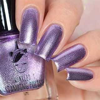 Stamping Polish Opaque in 1 Coat by Twinkled T (Queen Bee (Metallic Purple))