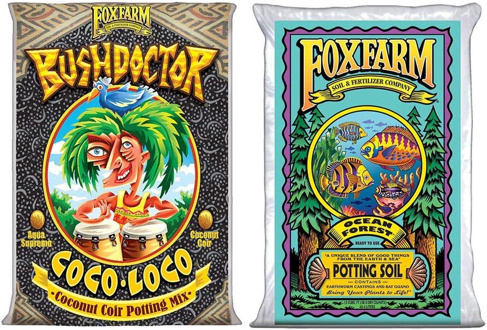 FoxFarm Bush Doctor Coco Loco Gifts 2 Garden Cu Feet half Forest and Ocean