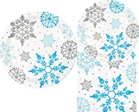 Winter Snowflake Party Supply Pack: Bundle Includes Paper Plates & Napkins for 18 People