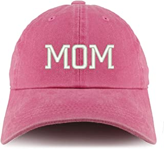 Trendy Apparel Shop Mom Embroidered Pigment Dyed Unstructured Cap