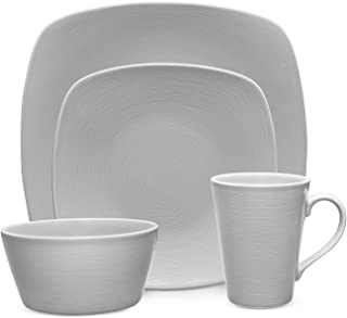 Noritake Dinnerware, Grey-On-Grey Swirl Square Collection