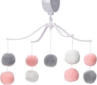 Sponsored Ad - Bedtime Originals Blossom Pink/Gray Pom Pom Musical Baby Crib Mobile Soother Toy