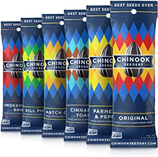 Chinook Seedery Roasted Sunflower Seeds - Jumbo Seeds Keto Snacks - Best For Snack Packs - Gluten Free, Non GMO Snack Food...