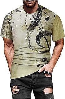 Men's Street Printed T-Shirt Summer Casual Short Sleeve T-Shirts