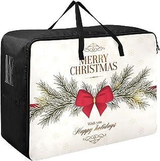Sacs à vêtements pour femmes Noël Nouvel An Carte de voeux Voyage Vêtements Sac de rangement 70 X 50 X 28 Cm Couette Couvr...