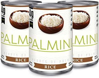 NEW!! Palmini Low Carb Rice | 4g of Carbs | As Seen On Shark Tank | Gluten Free | (Can, 6 unit)… (14 Ounce (Pack of 3))