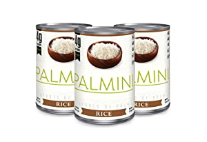Palmini Low Carb Rice | 4g of Carbs | As Seen On Shark Tank | Gluten Free | Hearts of Palm Rice (Can, 6 unit)… (14 Ounce (Pack of 3))