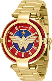 Invicta Women's DC Comics Wonder Woman 40mm Gold Tone Stainless Steel Quartz Watch, 34955