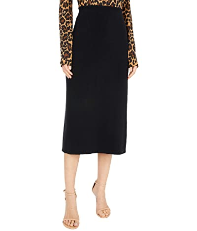 J.Crew Solid Sweater Skirt (Black) Women