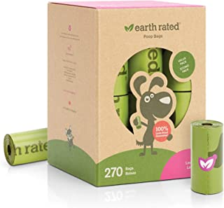 Earth Rated - Pack de bolsas para recoger excrementos de