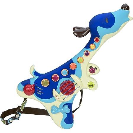 B. toys – Guitare pour enfants – Woofer – Instrument interactif – 3 Modes: Acoustique, électrique, et chien – Boutons musicaux – 20 chansons – Pour 2 ans et plus