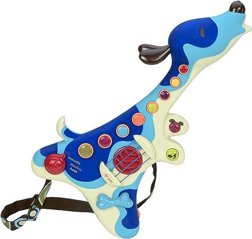 B. toys – Guitare pour enfants – Woofer – Instrument interactif – 3 Modes: Acoustique, électrique, et chien – Boutons...