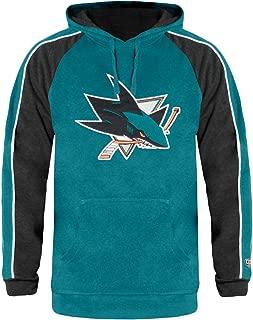 Old Time Hockey San Jose Sharks Mens Teal Merciless Hooded Long Sleeve Sweatshirt