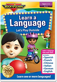 Learn a Language: Let's Play Outside by Rock 'N Learn - Spanish, French, Chinese, Italian, German and English 6 languages on